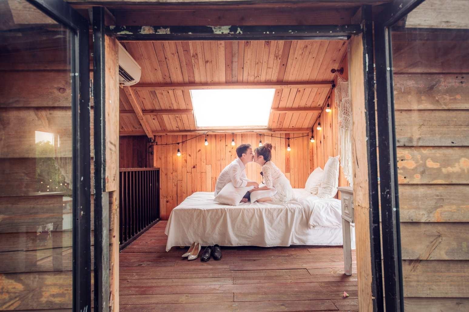 ảnh cưới tại phim trường Cabin69