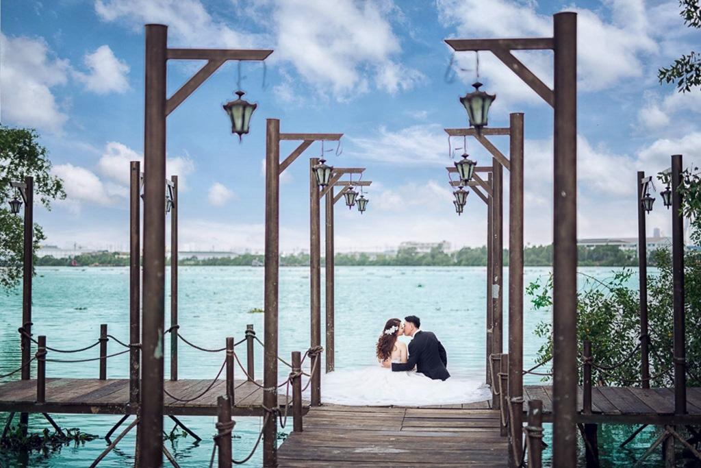 Chụp ảnh cưới đẹp phim trường alibaba