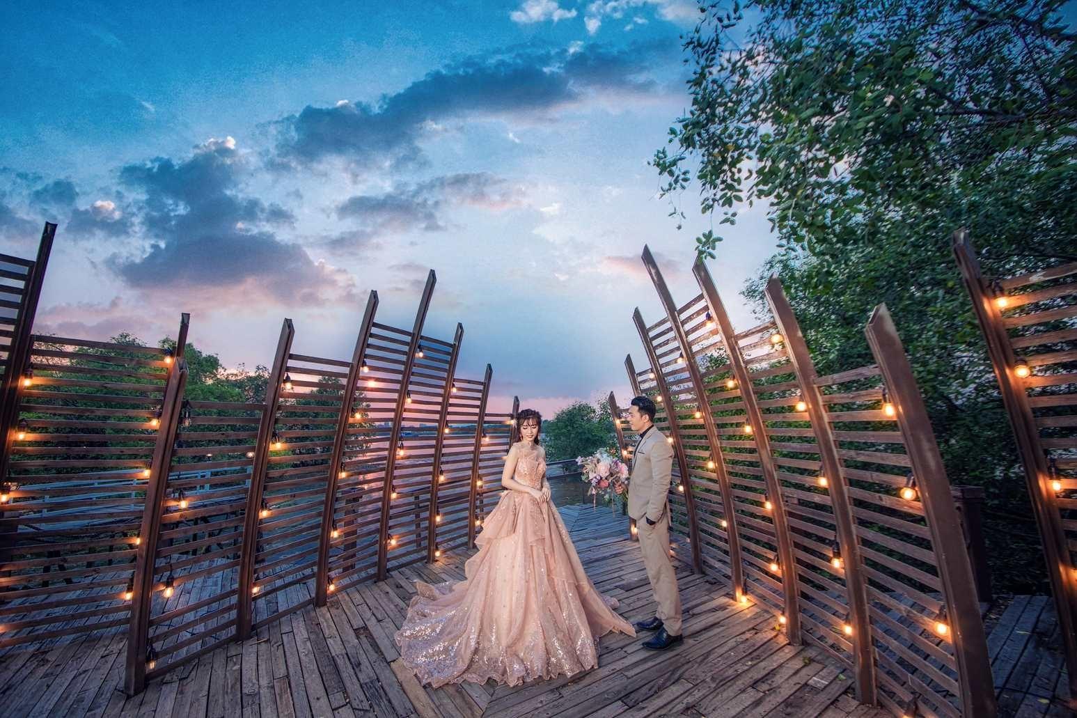 Chụp ảnh cưới đẹp tại phim trường Lamour