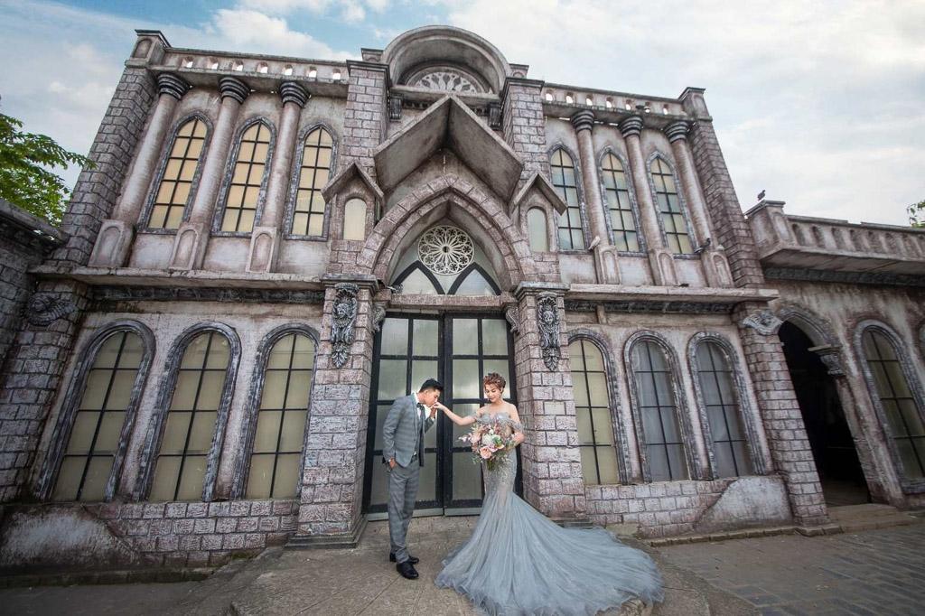 Chụp ảnh cưới đẹp tại phim trường Alibaba