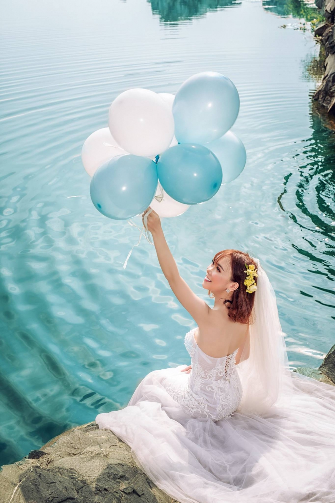 ảnh cưới đẹp tại hồ đá thủ đức