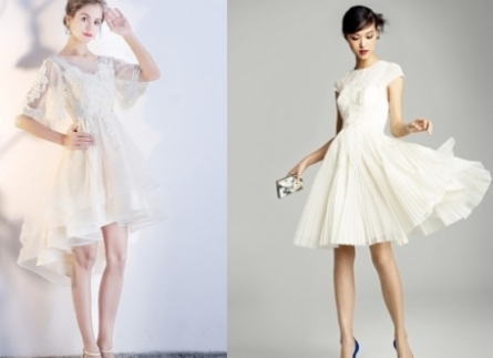 11 mẫu váy cưới ngắn Hàn Quốc đẹp tung chảo mọi góc nhìn
