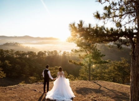 Chụp hình cưới ngoại cảnh ở Đà Lạt