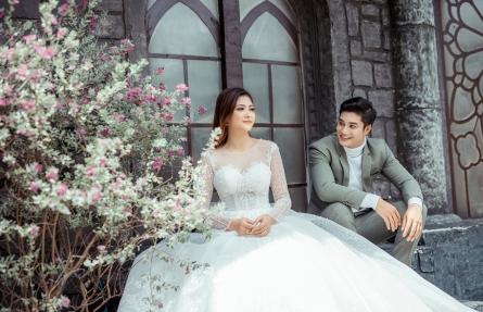 Chụp album cưới không ngại thời tiết tại phim truong aibaba