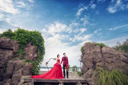 Chụp ảnh cưới trọn gói giá rẻ tại phim trường lamour