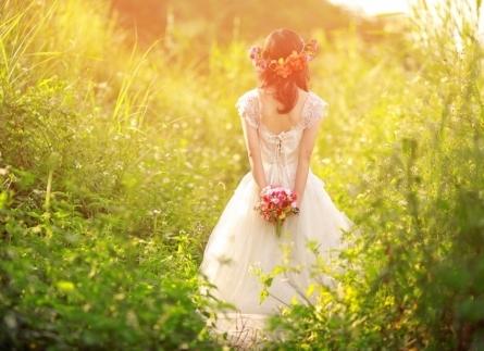 chụp ảnh chân dung cô dâu đơn thân